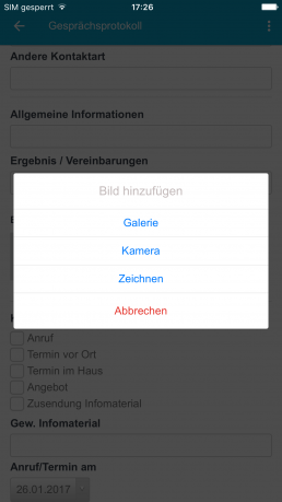 Multimediale mobile Formulare